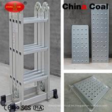 Escalera de acero plegable de 12 pasos para el hogar