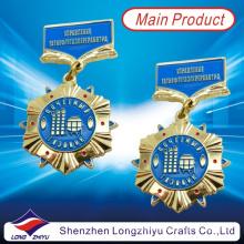 Россия Золотая металлическая медаль Подпись Военная медаль Знак Жареная медаль за эмаль (LZY00011)