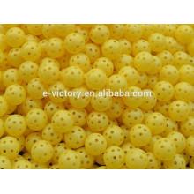 Creux de Golf Baseball Tennis ballon de formation pratique sportive : plastique jaune