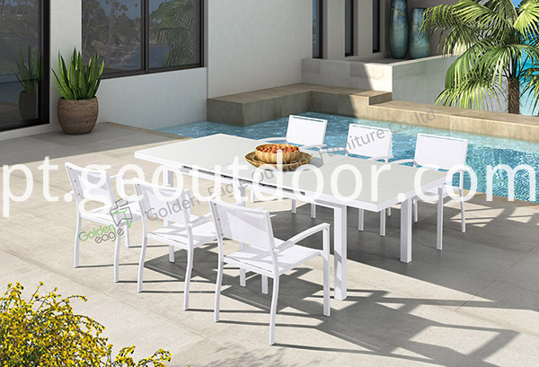 outdoor sling 7 piece dining set