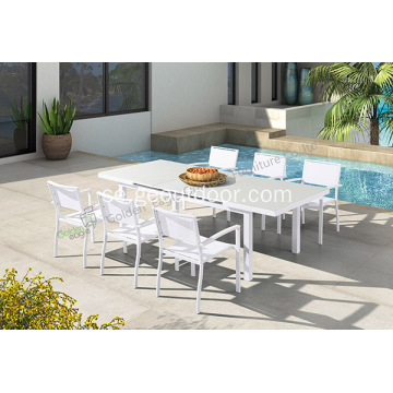 Outdoor Patio Furniture 7 styck bord och stolar
