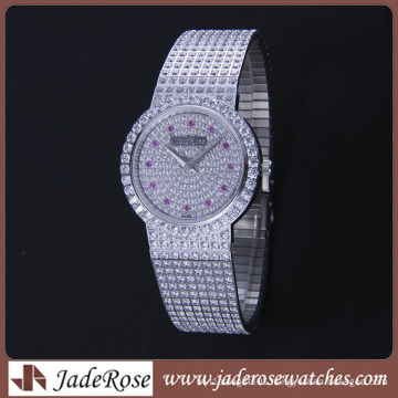 2016 Latest Exquisite Diamond Watch Waterproof Stainless Steel Watch