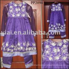 2010 manufatura flor vestido menina PP2094