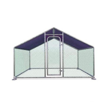 Paw Hut Galvanized Metal chicken coop cage with cover walk in pen run