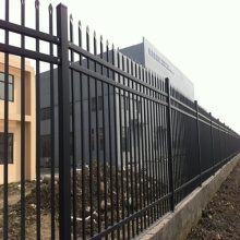spear top tubular zinc corten steel fence