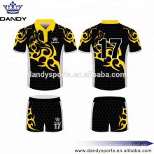 Jersey de rugby sublimé à imprimé personnalisé