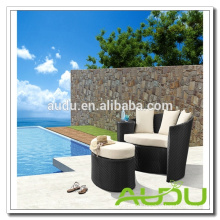 Audu Rattan Outdoor Daybed - Modular Black Rattan Daybed with Cushions