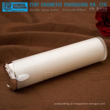 YB-S120 120ml simples e elegante do atarraxamento redondo acrílico plástico branco 120ml garrafa