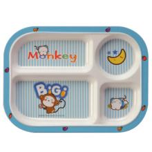 100% de louça de melamina-kid's tableware crianças 4-dividido placa (bg824)