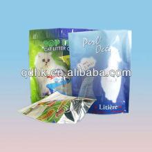 soft bottom gusset plastic bag for cat food packaging