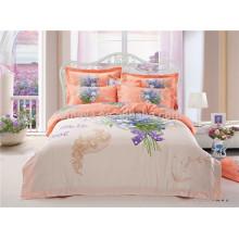 Tela de algodón 133 * 72 200TC Reactive impresión edredón cubierta conjunto de ropa de cama hecho en China