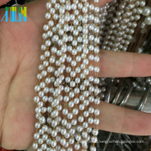 Charming Pearl Beads Metal Wire Rosary Beads Chain