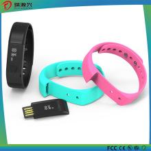 El monitor elegante impermeable del sueño de la goma IP67 de la silicona que sigue la aptitud del podómetro mira las pulseras de Bluetooth