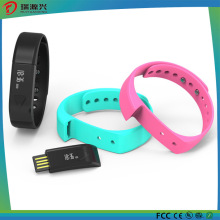 Borracha de silicone IP67 À Prova D 'Água Monitor de Sono Inteligente Rastreamento Pedômetro Pulseira de Fitness Relógios Bluetooth