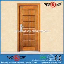 JK-A9012 reforzada de acero de madera blindada sala de diseño de puertas de modelos