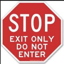 Aluminiumplatte Reflektierendes Verkehrszeichen (Stopp)