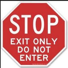 Plaque en aluminium Panneau de signalisation réfléchissant (arrêt)