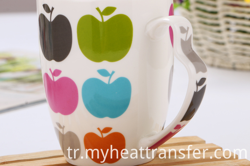 Fruit painted ceramic mug