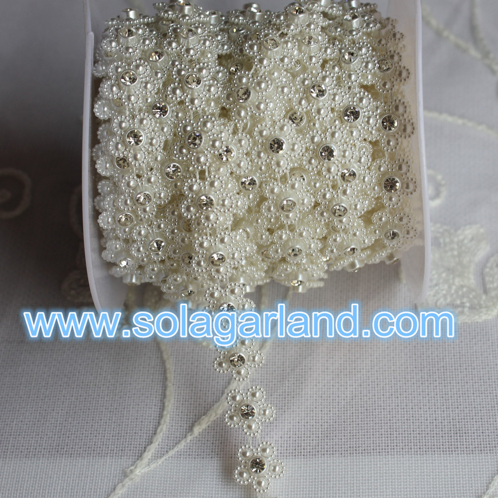 Rhinestone Flower Ribbon