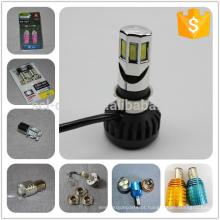 Muitos tipos de COB luz BA20D luz 12V 6W motocicleta lâmpada LED