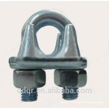 U.S.type galvanisé gréement pince de câble métallique