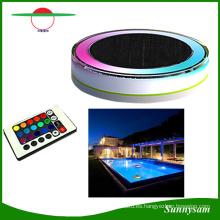 RGB Color y control remoto IP68 LED flotante Luz solar