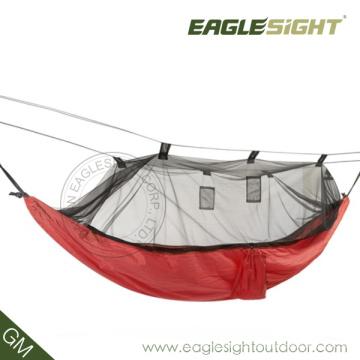 Hamaca de paracaídas hecha a medida con red mosquitera