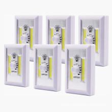 Interruptor leve sem corda com LED regulável a bateria COB