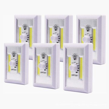 Interrupteur d'éclairage sans fil COB LED à batterie dimmable