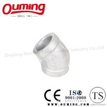 Coude en acier inoxydable à 45 degrés avec joint soudé soudé (OEM)