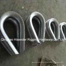 Carbón galvanizado guardacabo acero DIN 6899b cable dedal