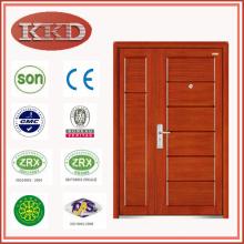 High-end madeira aço blindado segurança porta JKD-G206