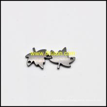 Forma de la hoja Metal etiqueta para el bolso y la ropa