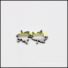 Leaf shape Metal Label for Bag and Garment