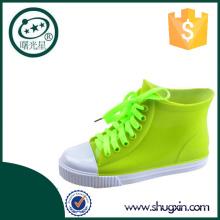 Jalea del pvc de Shugxin plana talón zapatos zapatos D-615