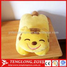 Горячая продажа прекрасный желтый улыбкой тигра животного стиля игрушки плюшевые подушки