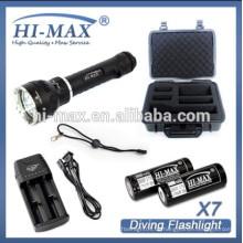 Ein- / Ausschalten 3800lumens cree u2 * 3 LED-Leuchten Tauchspirale Schnur Tauchen