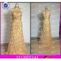 ED Bridal Sparkle High Quality Sheath Sleeveless High Collar Zipper Long Beaded Evening Gown 2017
