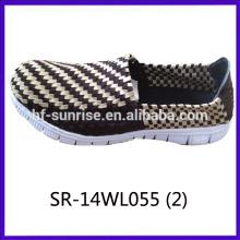 2014 новых стилей SR-14WL055 смешивать цвета ручной тканые ремни обувь