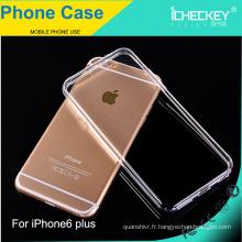 Coque en TPU véritable, très transparente et durable pour iPhone6 plus