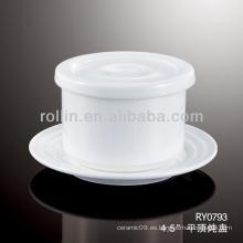 Buena calidad chino porcelana blanca taza de sopa