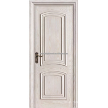 Arco superior 2 painel Swing branco pintado folheado MDF Interior levantou moldagem portas