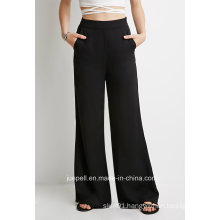 Classic Palazzo Pants with Slanted Front Pockets and an Invisible Side Zipper