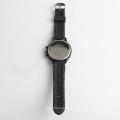 Men's quartz black watch big dial changeable watch strap, 304 stainless steel buckle watch