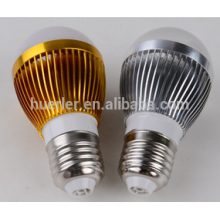 3leds 3W llevó la bombilla de aluminio 2yrs de los bulbos de lámpara e26 / b22 / e27 llevó la bombilla de iluminación