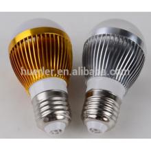 3leds 3W ampoules led en aluminium 2 ans de garantie E26 / b22 / e27 ampoule d'éclairage LED