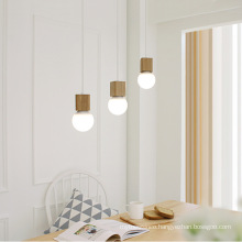 Home decor modern nordic natural wooden pendant chandelier light