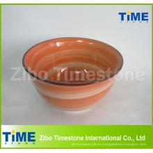 Lave a mano el tazón de fuente de cereal de cerámica barato