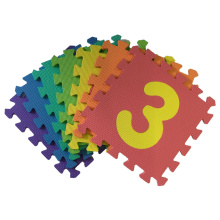 10 PC Soft EVA Foam Baby Bambini Kids Gioca Mat Number Puzzle Jigsaw Activity Foam Soft Padded - Numeri Mats