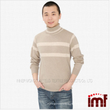 Camisola de caxemira masculina pura